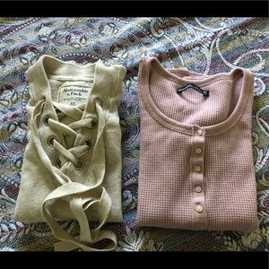 2 Abercrombie and Fitch long sleeve shirts